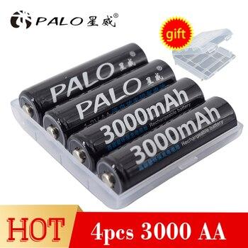 パロニッケル水素 3000 mah 電源容量充電式電池単三充電式バッテリーリモコン/電気シェーバー/ラジオ