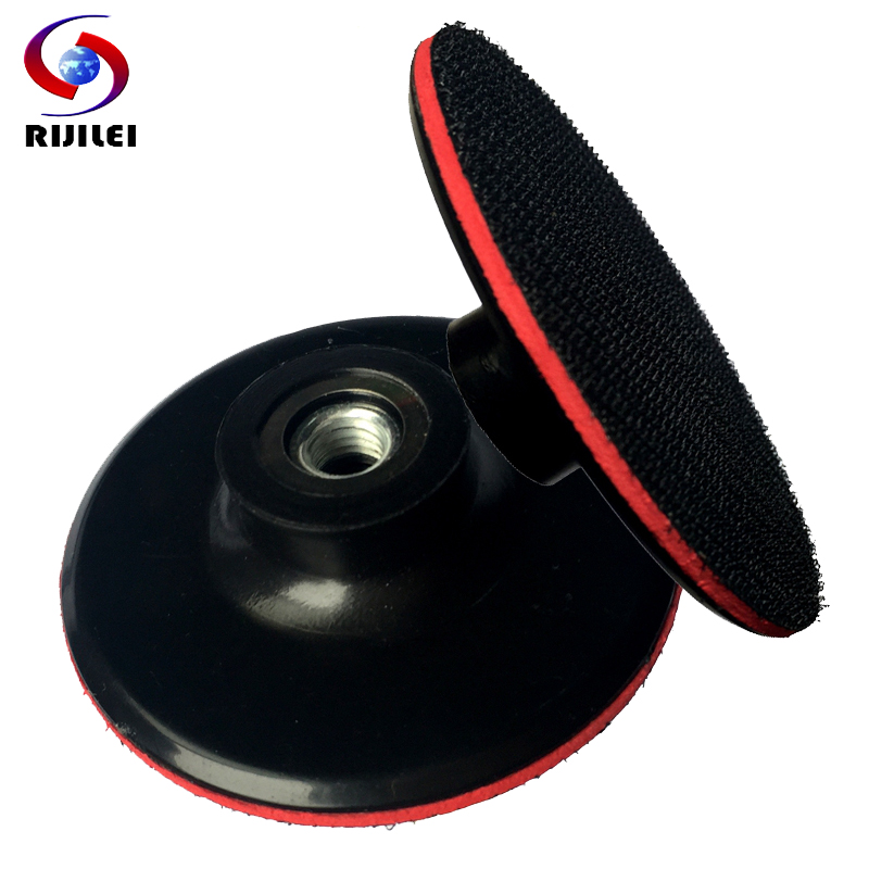 (3BFR) M14/M10 3inch 80mm Rubber Backer Pad Thin Hook & Loop Sanding Pad Pallet Angle grinder Polisher Diamond Tools Pads Holder