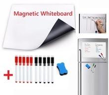 Pizarra blanca magnética Flexible suave imanes de nevera pizarra de recordatorio para el hogar cocina tableros de mensajes almohadilla de escritura marcadores magnéticos borrador