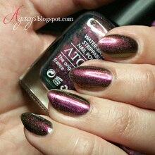 1 Bottle 16ml Shiny Red Holographic Starry Nail Polish Chameleon Nail Art Varnish Nail Lacquer (Black Base Color Needed)