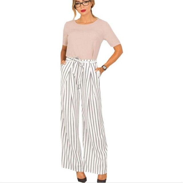Fashion Formal Trousers For Women High Waist Pants Woman Elegant Office  Lady Pants Female Plus SizeWide 9ca9074ebf00