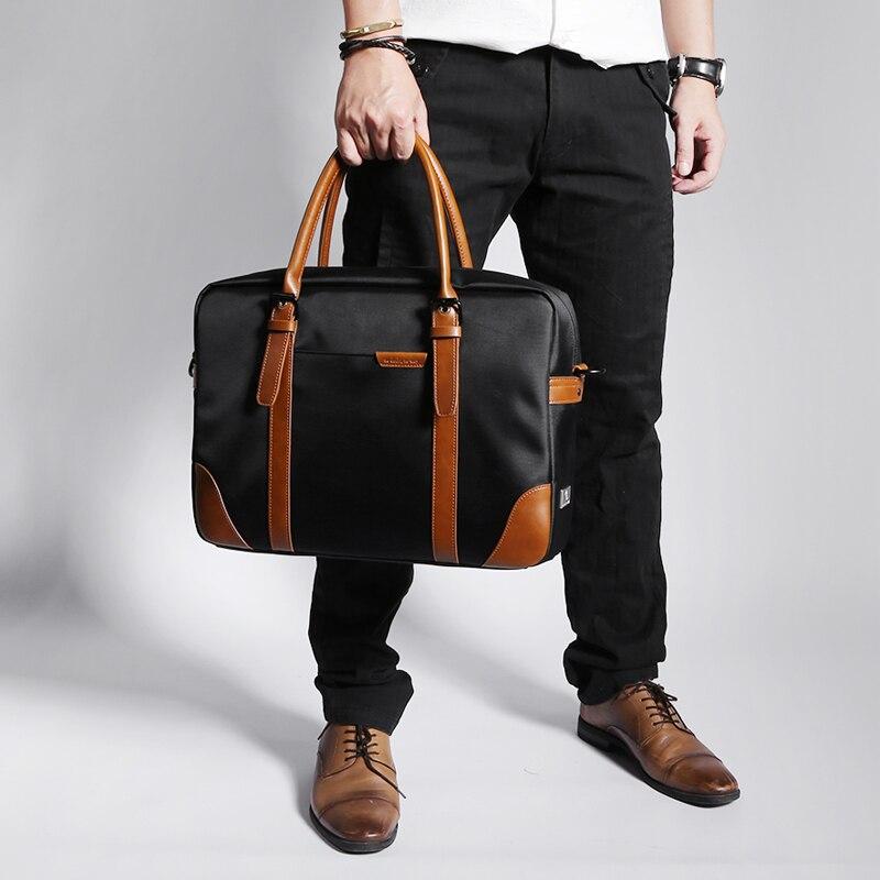 Neue Gruppe Messenger Taschen Wasserdichte Tragbare Laptop Aktentasche Tasche männer Reise Schulter Vintage 15,6 zoll Handtasche Für Macbook