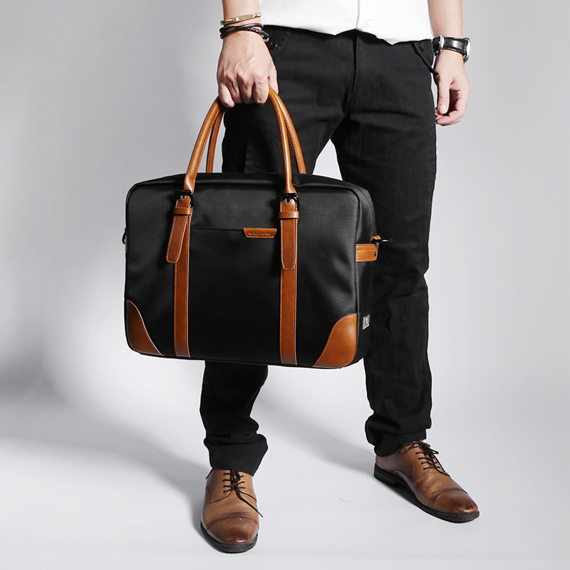 DONGLU Mens Vintage Tote Multifunction Shoulder Messenger Bag Briefcase Color : 1#, Size : S
