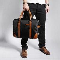 New Group Messenger Bags Waterproof Portable Laptop Briefcase Bag Men's Travel Shoulder Vintage 15.6 Inch Handbag For Macbook
