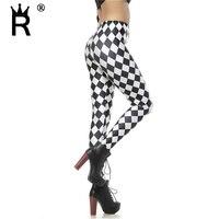 Black and white plaid 3d digital print women legging pencil skinny font b leggins b font.jpg 200x200