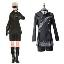 YoRHa № 9 костюмы типа S cosplay японская игра NieR: одежда автоматов Masquerade / Mardi Gras / карнавальные костюмы Бесплатная доставка