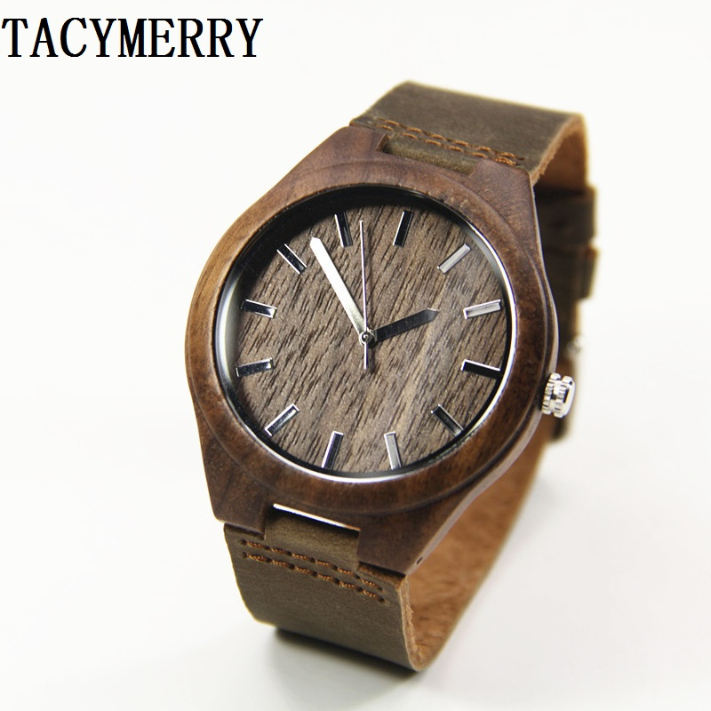Walnut Wooden Wristwatches  Japanese Movement    For Men  Women Classical Luxury Brand Watch With Gift Box Friendly Environment bobo bird brand new sun glasses men square wood oversized zebra wood sunglasses women with wooden box oculos 2017