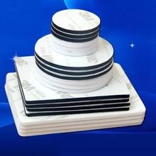 10x Double Sided Adhesive Pad Sticker EVA Traceless 3mm Round Rectangle White Black Custom Made