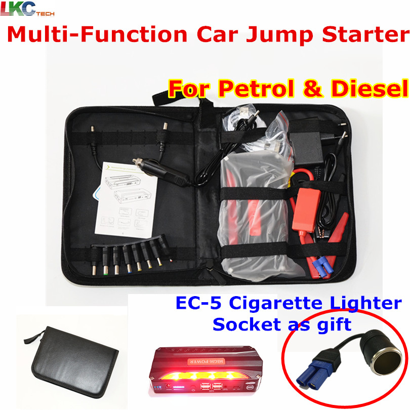 Best Price new bag Multi-Function car jump starter Mini Emergency Charger for Petrol & Diesel 4USB Output With 4 Batteries