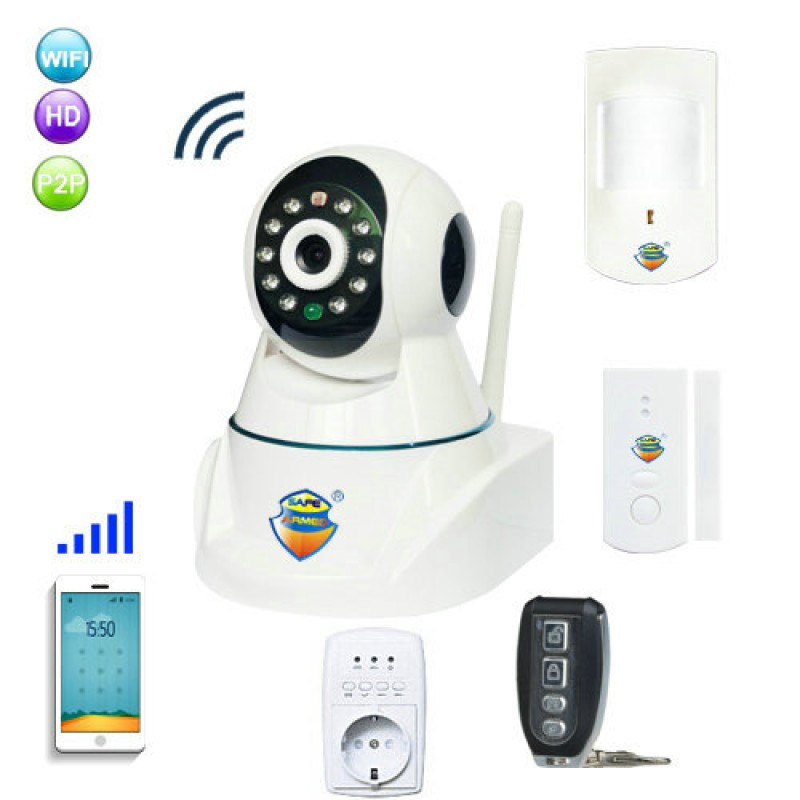 GSM Alarm & IP Network Camera with Wireless PIR & Door Sensor Alarming Alert System priority based traffic load reduction for wireless sensor network