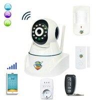 Gsm сигнализация и IP сети Камера с Беспроводной пир и двери Сенсор тревожные оповещения Системы