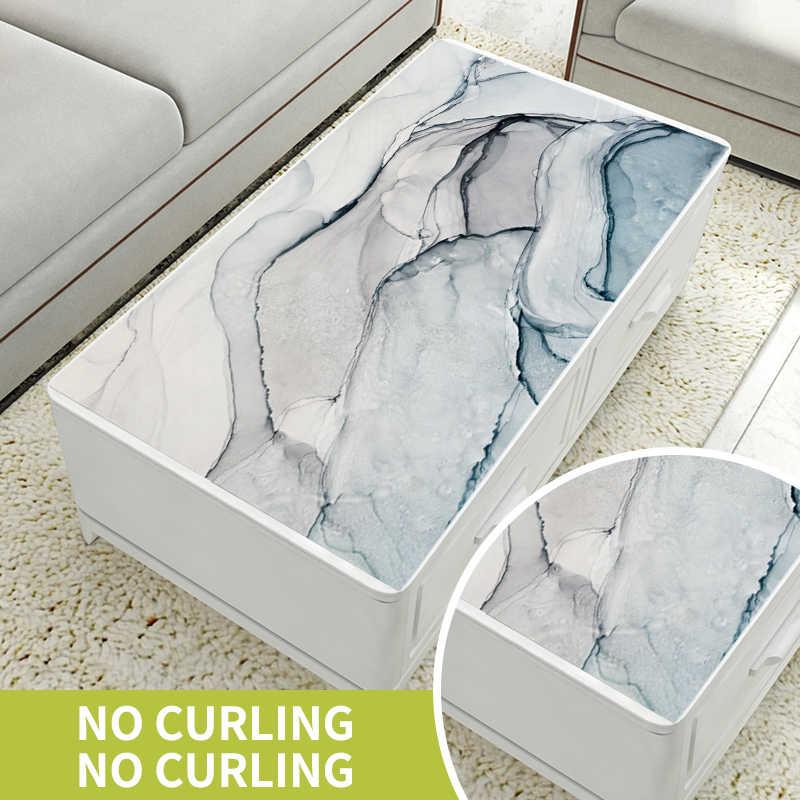PVC זכוכית רכה מפת שולחן עמיד למים Oilproof פלסטיק שקוף מודרני שולחן אוכל כיסוי עם מטבח