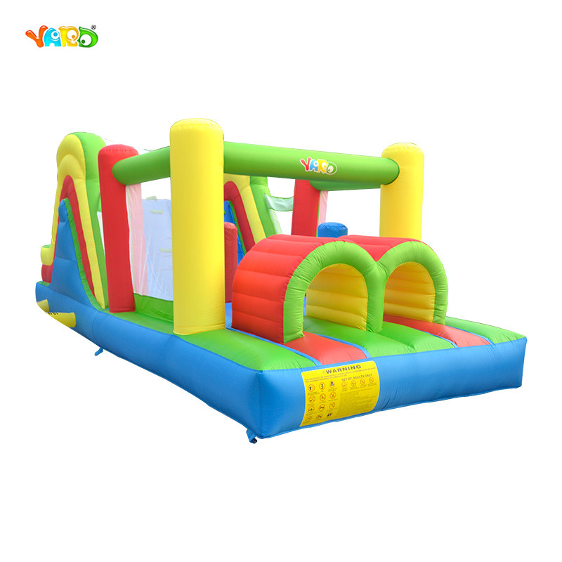 YARD Inflatable Obstacle Course Bounce House Jumping Castle for Children Funny Kids Bouncy Castle Toys for Kids With Blower стоимость