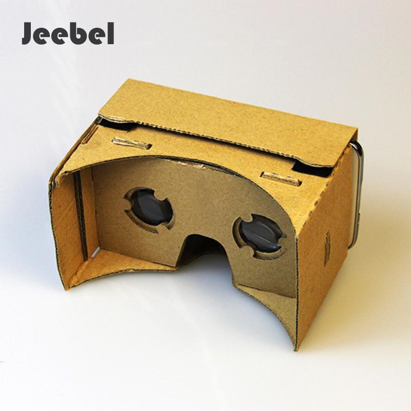 Jeebel VR Glass paper Cardboard 3D Glasses Virtual Reality Glass For Smart Phone VR Cardboard VR Paper Glass