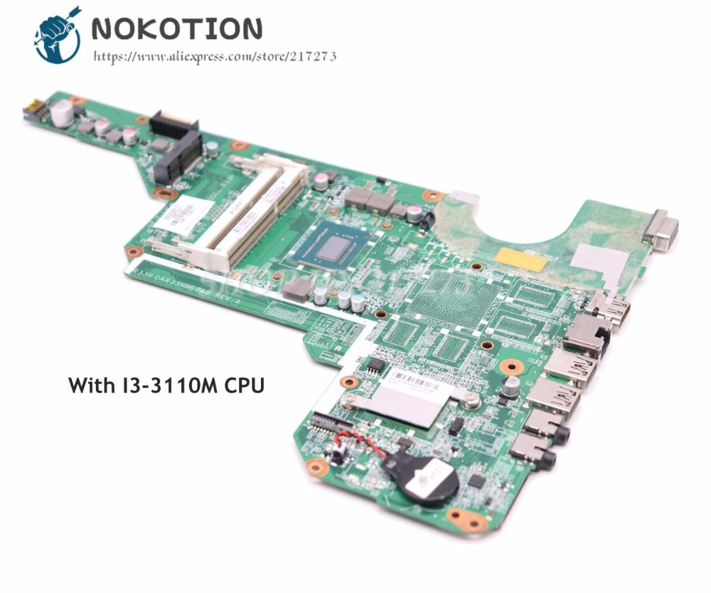 NOKOTION Laptop Motherboard For HP Pavilion G6 G6-2000 MAIN BOARD I3-3110M CPU DDR3 710873-001 710873-501 цены