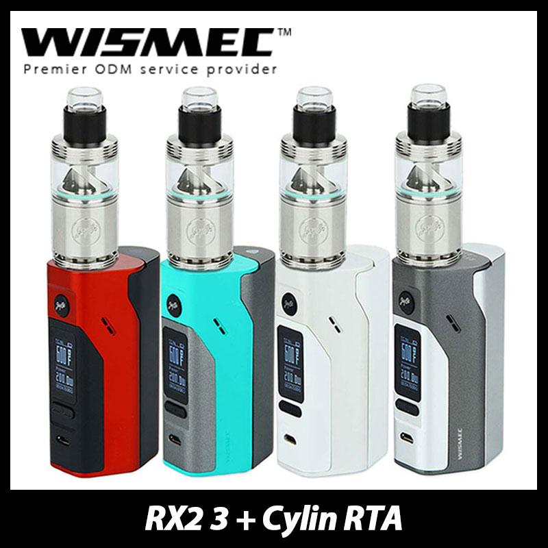 ФОТО Original Wismec Reuleaux RX2/3 Mod with Wismec Cylin RTA Atomizer 3.5ml Electronic Cig Kit Vaping Reuleaux RX23 Mod