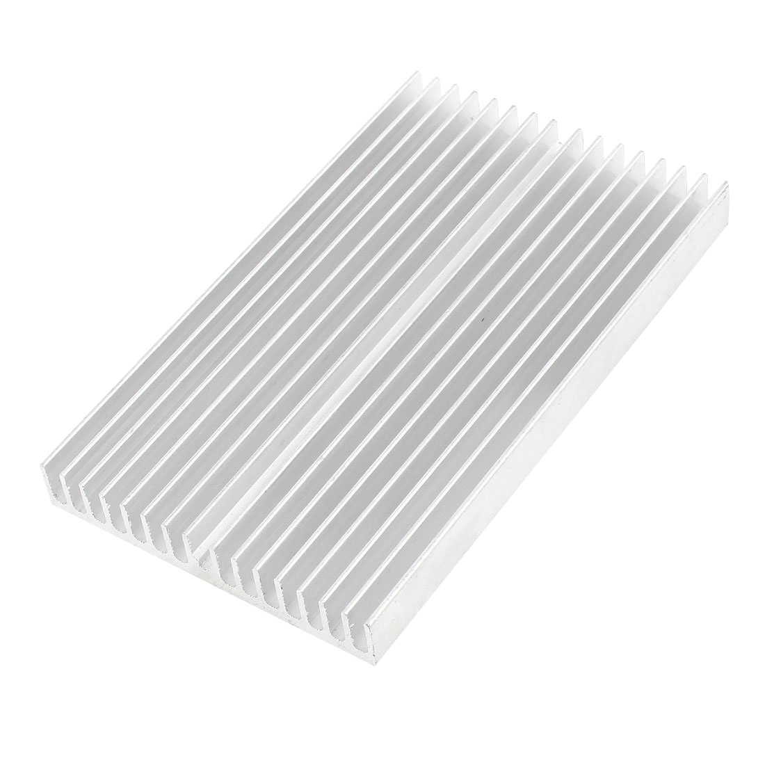 Silver Tone Aluminum Cooler Radiator Heat Sink Heatsink 100x60x10mm