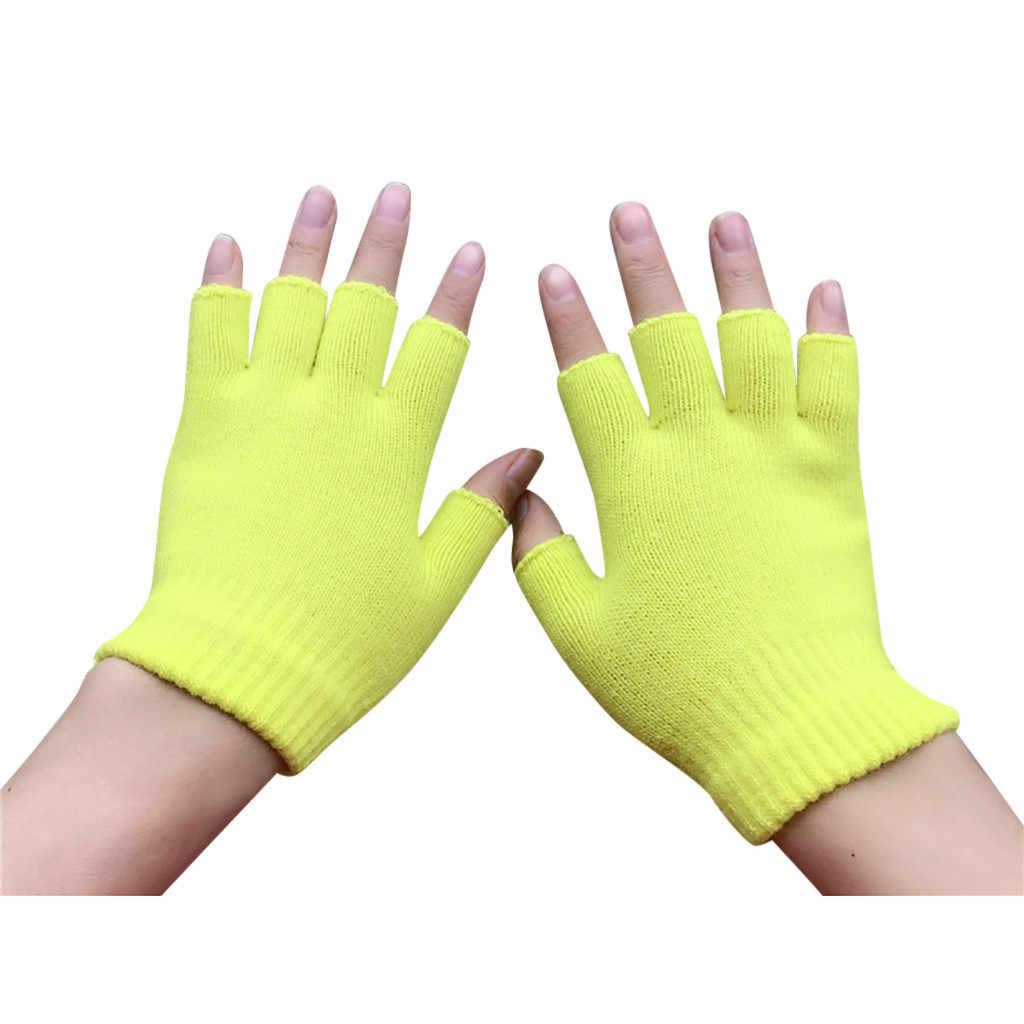 冬の女性のスポーツ半指男性手袋スポーツ手袋 guantes アンチスリップ半指戦術的な手袋 luvas デ inverno fingerle