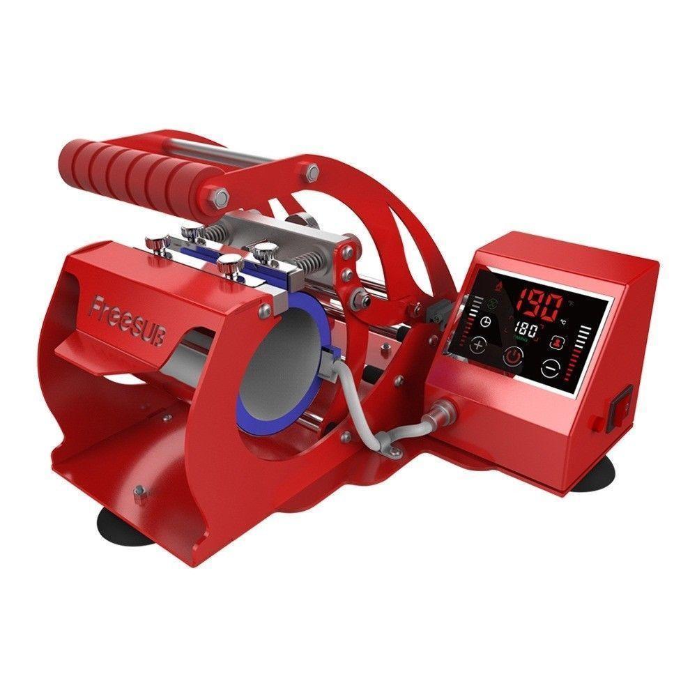 Machine intelligente rouge de transfert de chaleur de presse de chaleur de tasse pour 11OZ tasses à café tasses Sublimation ST 130 blanc/rouge