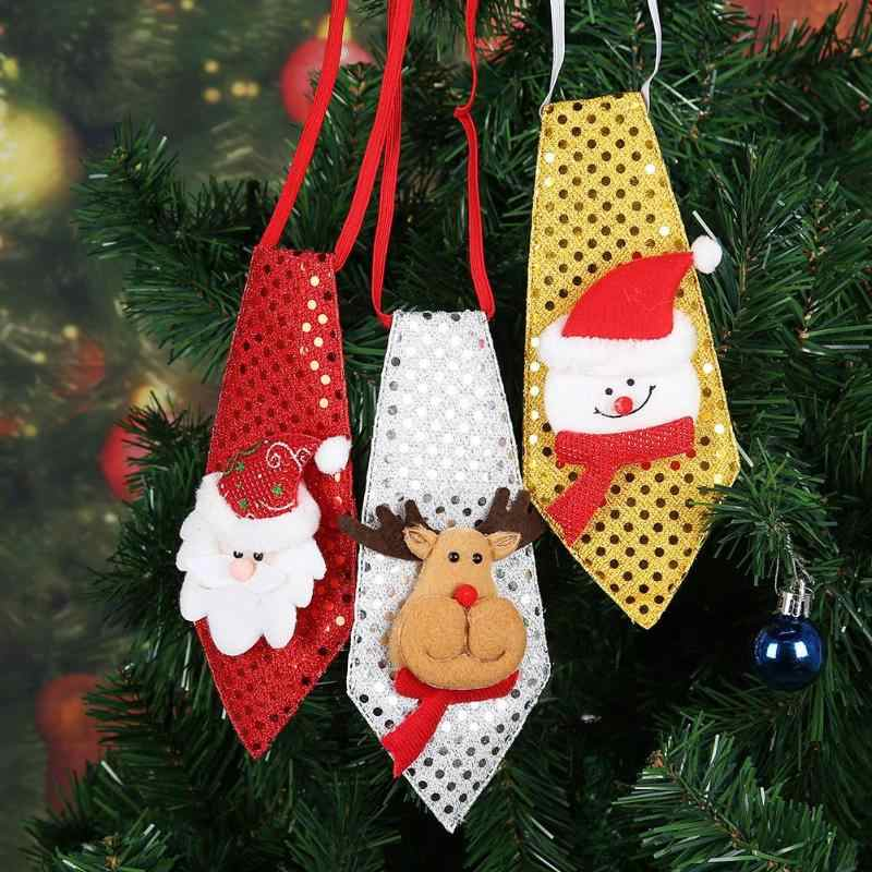 Adultos Crianças Bonito Lantejoulas Laço Do Natal Do Boneco de neve Papai Noel Alces Casa Suprimentos Presentes de Natal Ano Novo Decorações Do Partido Decoração Do Partido