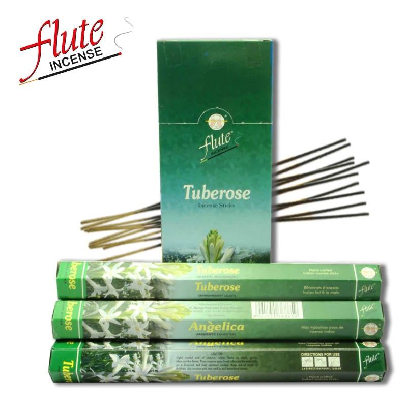 Флейта 20 палочки/пакет тубероза аромат удача Cored аромапалочки ручной работы из индийского горения в офис для медитации