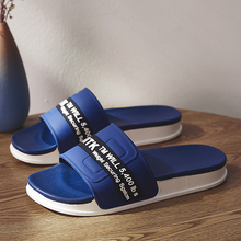 Designer Men Summer Slippers Black Blue Indoor Bathroom Slippers Mens Leisure Room Flats Shoes Outdoor Beach Male Slippers