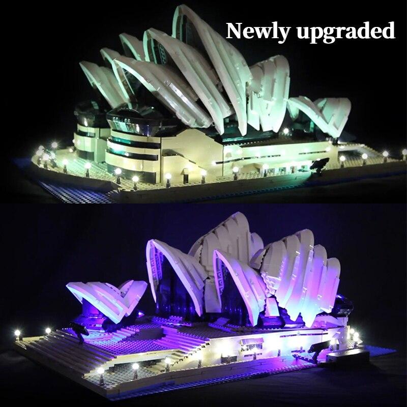 LED light up kit para lego 10234 Compatível 17003 Série Cidade Sydney Opera House tijolos para construção (apenas com luz caixa de bateria)