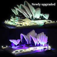 Luz LED kit para lego 10234 Compatible con 17003 de la ciudad de serie de la Ópera de Sydney ladrillos de construcción (con luz caja de la batería)