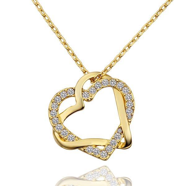 Fashion Women Gold Filled Heart Pendant Necklace Chain Jewelry Accessories Pendulum Bijouterie Bijoux Floating Locket Charm N586 locket