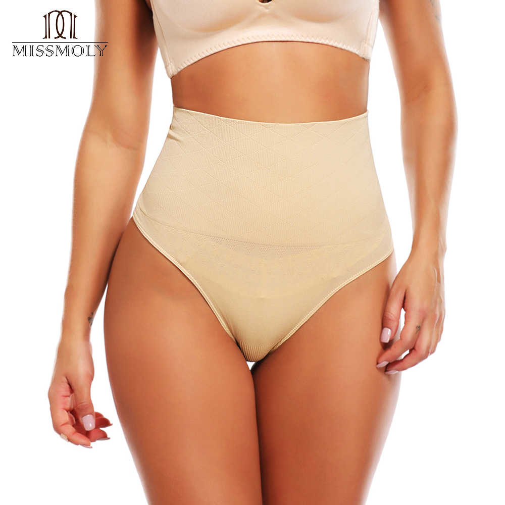 793ffe8826e Miss Moly Women s High Waist Cincher Girdle Tummy Control Body Shaper  Slimmer Sexy Thong Panty Shapewear