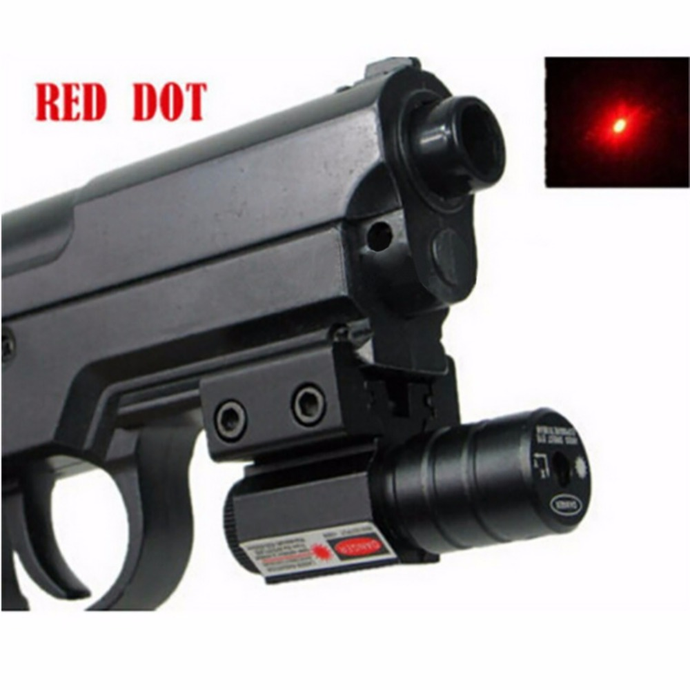 Hot 50-100M Range 635-655nm Red Dot Laser Sight Pistol Adjustable 11mm 20mm Picatinny Rail Hunting Accessory