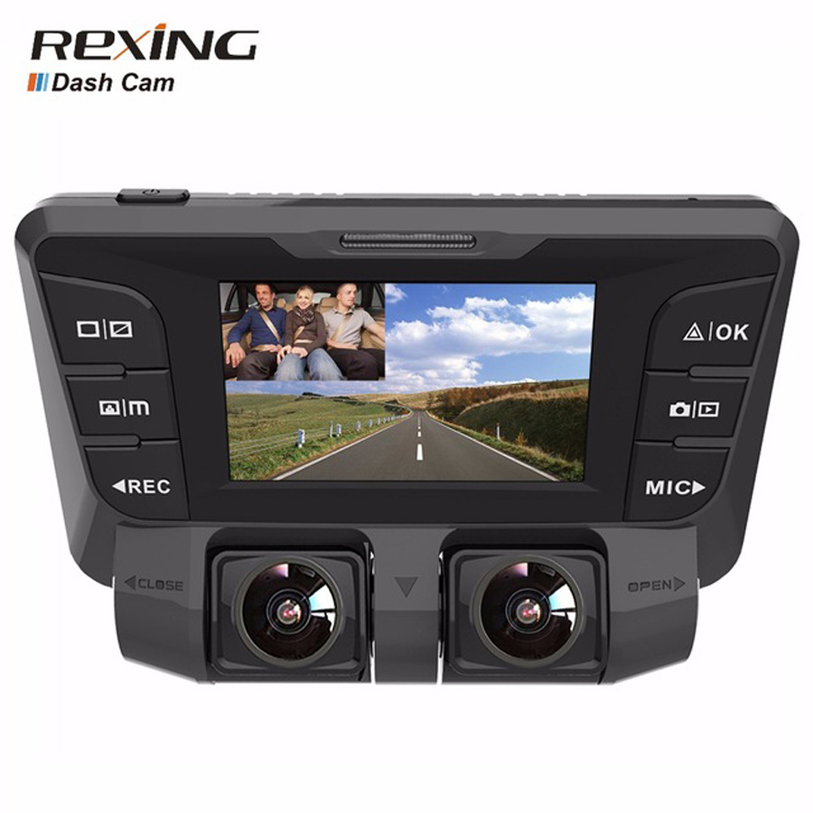 Rexing V2, 4 k UHD Double Caméra, Wifi, Voiture Dvr Caméra, Dash Cam, nuit Vision, WDR, Vidéo Enregistreur