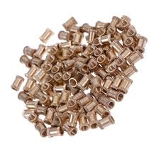 HELTC 100 шт m3x6мм гайки с накаткой, резьбовые круглые латунные гайки с накаткой, латунные гайки с накаткой