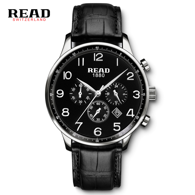 READ Multi-Function Microdermabrasion Men's Watch Multi-Function Water Resistant Men's Watch R6080 Coffee Surface multi function green