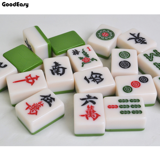 Fabulous Hoge Kwaliteit Reizen Mahjong set Mahjong Spelletjes Thuis Games &FM48