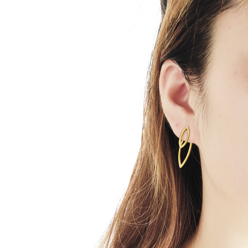 Trendy Stainless Steel Ganda Berongga Leaf Stud Earrings Wanita - Perhiasan fashion - Foto 6
