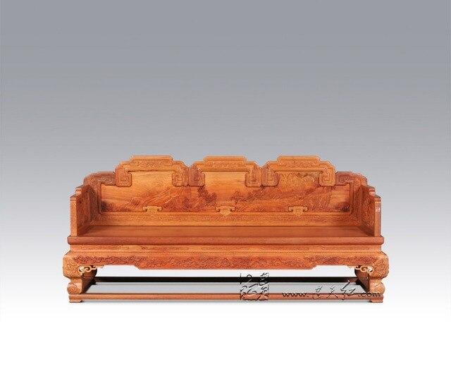 Hoang Gia Trung Quốc đồ Nội Thất Bằng Gỗ Padauk Sofa Giường 3 Ghế Ba