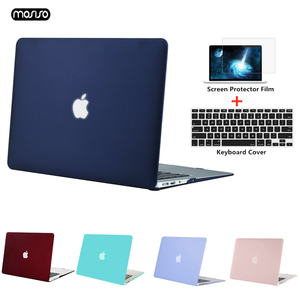 Image 1 - MOSISO new Crystal/Matte Case For Apple Macbook Pro Retina 13 15 inch Laptop Bag,For New Pro 15 With Touch Bar A1707 A1990 A1398