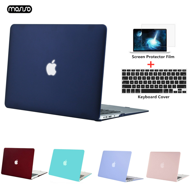 MOSISO new Crystal/Matte Case For Apple Macbook Pro Retina 13 15 inch Laptop Bag,For New Pro 15 With Touch Bar A1707 A1990 A1398