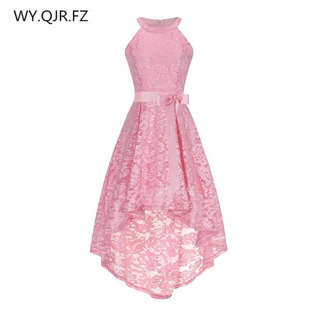 OML526F # спереди Короткие Длинные Сзади Розовый Холтер Лук вечерние платья одновечерние классник партии платье на выпускной вечер Оптовая Продажа модная одежда Китай