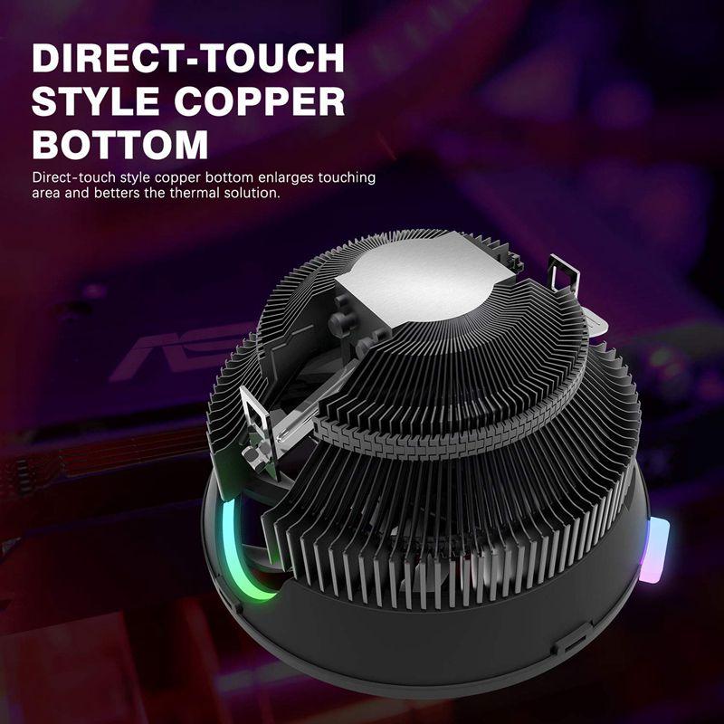 darkflash Aigo CPU Cooler Radiator LED 125mm Fan AMD Intel Silent 3Pin PC Air CPU Cooling Cooler LGA 115X 775 AM3 AM4 Heatsink in Fans Cooling from Computer Office
