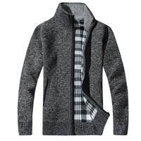 2017 Fashion Mens Wool Cardigan Sweaters Men S Thick Stand Collar Pullover Korean Full Sleeves Slim
