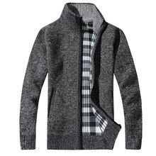 74dcda380af1 Мода 2017 г. мужской шерстяной кардиган свитера мужские толщиной Стенд  воротник пуловер в Корейском стиле