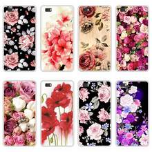 Case Cover For Huawei P8 P 8 Lite Lite Soft Silicone TPU Floral Flower Paint Coque For Huawei P8Lite ALE L21 Phone Cases(China)