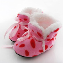 Leopard Zebra Dot Soft Winter Boots Toddler Kids Fleece Baby Shoes Pre