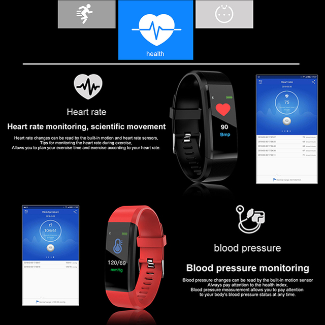 2019 New Smart Watch Men Women Heart Rate Monitor Blood Pressure Fitness Tracker digital watch Sport Watch for ios android +BOX