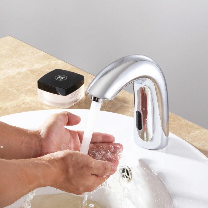 Бортике инфракрасный Сенсор кран ручной сенсорный смесителя чувство бассейна кран высокого Мощность для Мощность Смесители для ванной ком