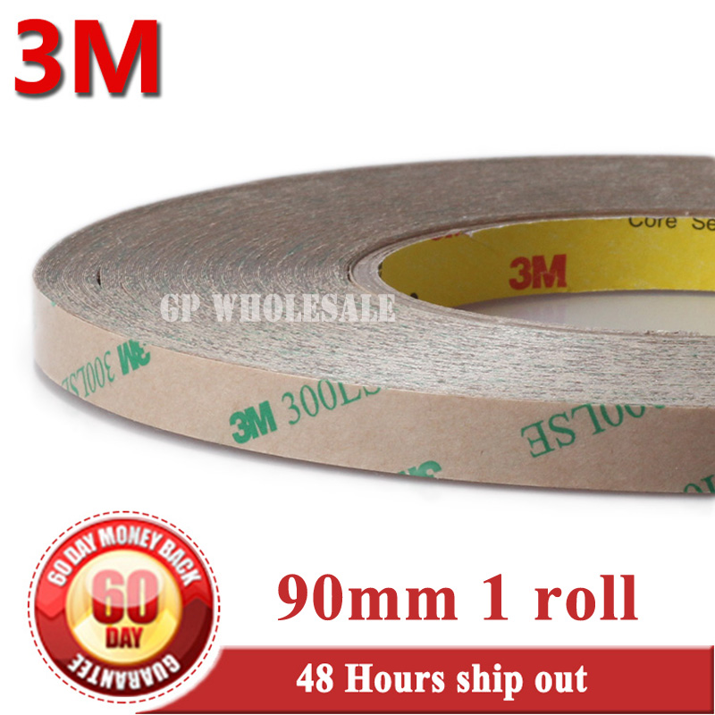 цена на 90mm*55M*0.17mm, 3M 300LSE 9495LE Super Strong Two Sides Adhesive Transparent Tape for Glass Screen Display