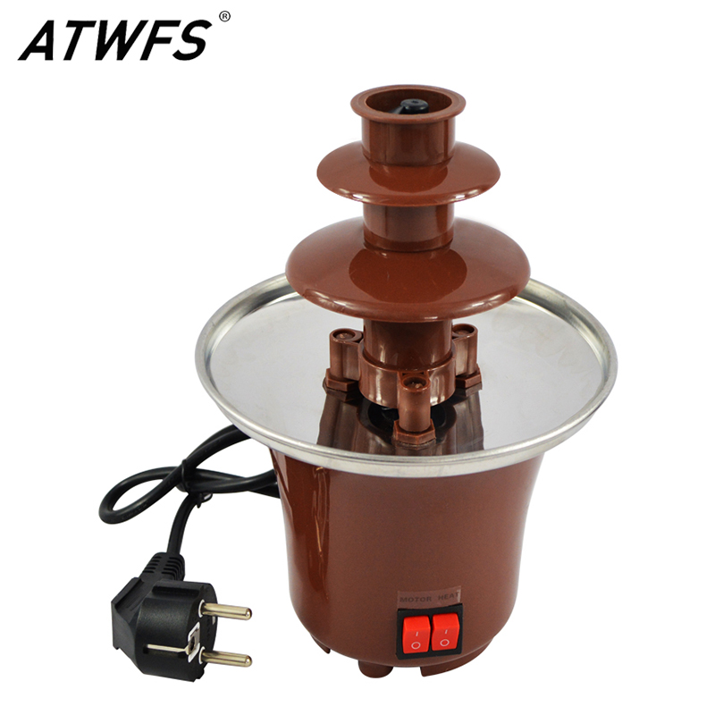 Chocolate Fountain Machine Fondue Maker Heated 3-Tier Home Household Chocolate Tempering Machine недорого