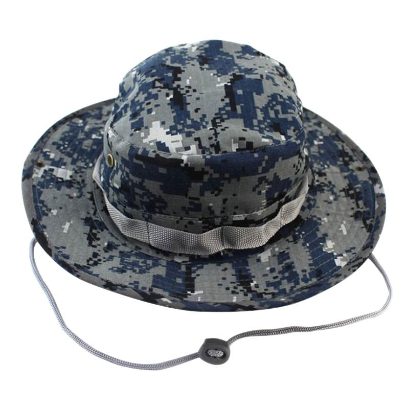 2017 New Arrive Military Camouflage Bucket Hats Jungle Camo Fisherman Hat  with Wide Brim Sun Fishing Bucket Hat Caps Useful 4f2a3308373